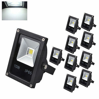 10pcs cool white floodlights 10w Landscape IP65 high power lamp outdoor security