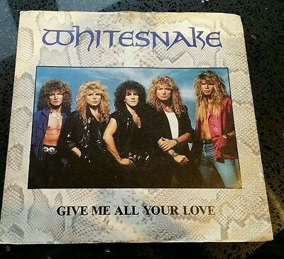 "Whitesnake - ""give Me All Your Love"" - Uk 7"" Picture Sleeve Single Em 23"