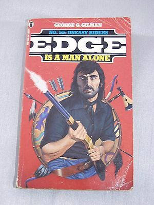 Uneasy Riders (Edge) **1st Edition** By George G. Gilman No 55 Rare paperback