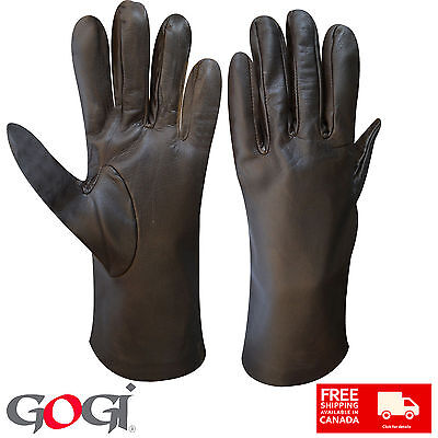 Top Quality Women Real Leather Long Wrist Dressing Casual Gloves Lambskin