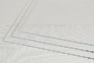 A3 A4 A5 + More | Clear Perspex® Acrylic Plastic Panel Sheets | 2-10mm Thickness