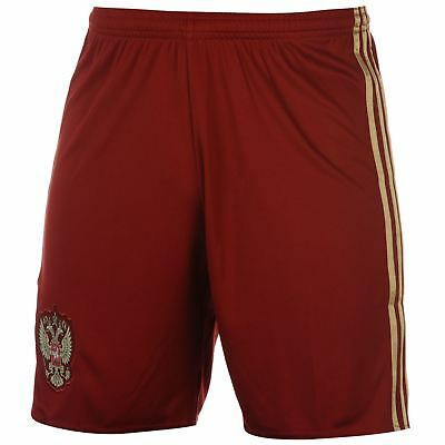 adidas Russia 2016 2017 Home Shorts Mens Red/Gold Football Soccer Short