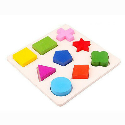 Baby Montessori Puzzle Early Wooden Learning Educational Toy Geometry Assemblage