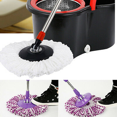 360 Rotating Replacement Magic Microfiber Floor Mop Head OR Spin Mop Pole Handle