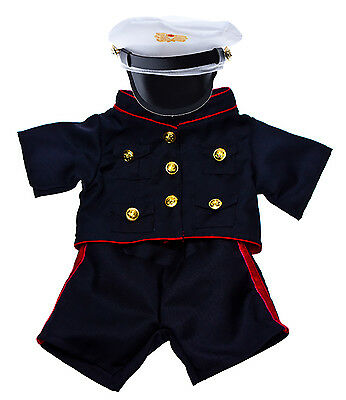 """Marines Uniform Outfit Teddy Bear Clothes Fits Most 14-18"""" Build-A-Bear and More"""