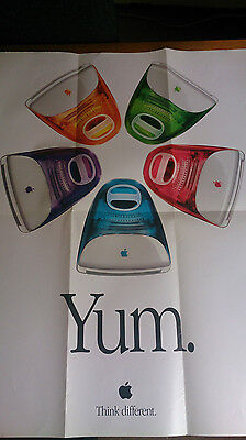 Apple imac poster Yum Think Different 5 Flavours Vintage Rare 1990s Poster
