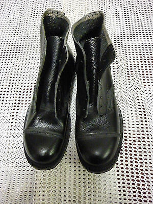 Dms Leather Boots Size; 8M Average Width Fitting Full Leather