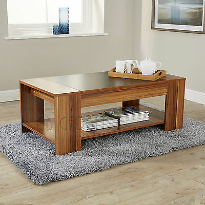 Modern Coffee Table Walnut Black Occasional Living Room Furniture new 18mm MDF