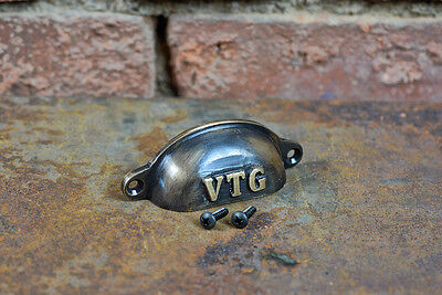Cast Brass Cup Pull - Industrial Style - Cabinet Pull - Best Quality  Brass Knob