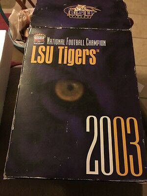 LSU TIGERS 2003 National Champions Statue Very Rare