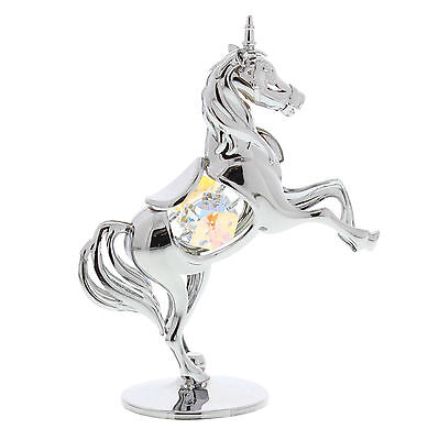 NEW Crystal Gift Silver Fantasy Unicorn Horse Swarovski Elements Girls Present