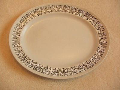 "Rare Midwinter Graphic 14"" Serving Plate Meat Platter 1964 Jessie Tait Vintage"