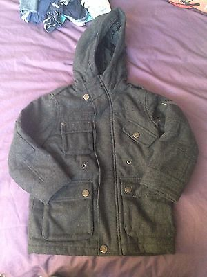Boys Grey Age 4 Years Duffle Coat Jacket From Next Excellent Condition