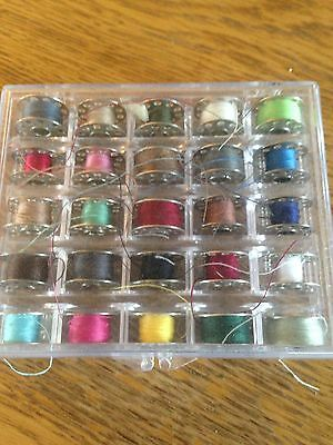 Box Of Mettle Bobbins Suitable For Singer Brother Toyota Janome Sewing Machines