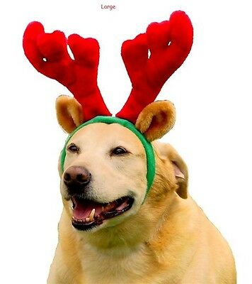 Luxury reindeer dog antlers christmas plush