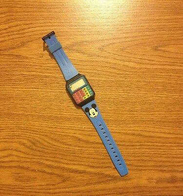 Vintage 80s Mickey Mouse Calculator Watch DISNEY