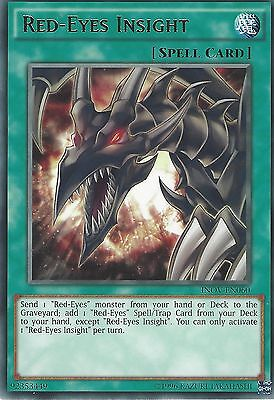 3X Yu-Gi-Oh Card: Red-Eyes Insight - Rare - Inov-En060
