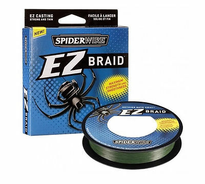 NEW Spiderwire EZ Fishing Line 15lb 20lb 30lb Braid Moss Green 300 Yards 1140572