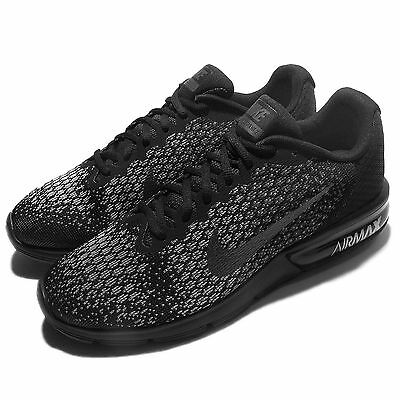 Nike Air Max Sequent 2 II Black Grey Men Running Shoes Sneakers 852461-001