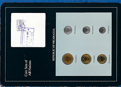 Coin Sets of All Nations Nicaragua UNC 1,5 Cordobas 5,10,25,50 Ctvs 1987 1JUL91