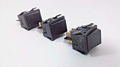 3 SWANN Switch ON OFF Toggle 6 Pin Barrier DPDT Rocker AC Series 50 15A Black