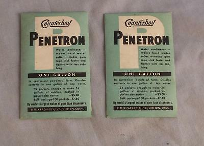 2 Vintage Packets Counterboy Penetron Water Conditioner