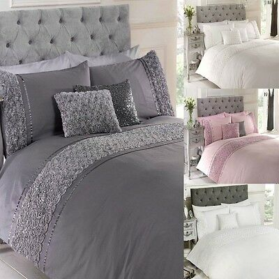 Limoges Luxury Quilt Duvet Cover & Pillowcase Bedding Bed Sets Double, King,  by