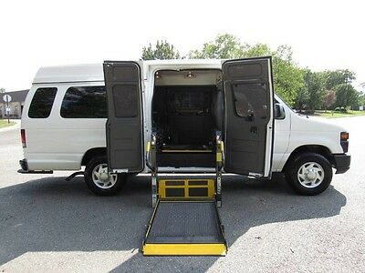 2012 Ford E-Series Van ParaTransit 12 Ford E250 Extended Hightop Wheelchair ParaTransit 1Owner Records