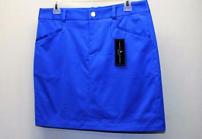 New Womens Size 6 Ralph Lauren Polo Blue Poly/Cotton golf skorts