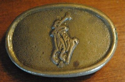 Vintage Polo Match Polo Brass Belt Buckle Rare Old