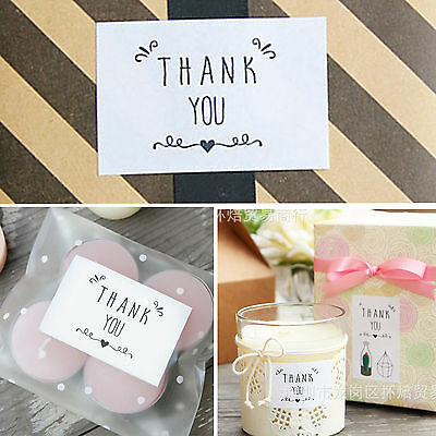 "42PCS "" THANK YOU "" Peel Off Stickers Wrapping Gift Bags Decor Sealing Sticker"