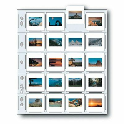 """Print File Archival Storage Page for Slides, 35mm (2x2""""), Clear Back"""