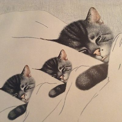 Rare Vintage CHESSIE & Her First Family Kittens Chessopeek  Railroad 12 X 20