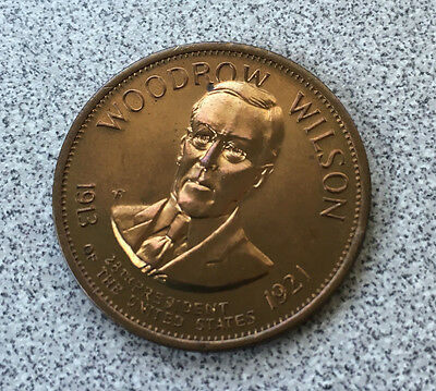 The 28th President Woodrow Wilson 1913-1921 Collectors Coin Token