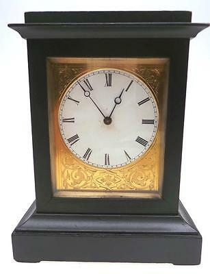 Miniature Antique French 8 Day Ebonised Carriage Mantel Clock 19THC By Bevette
