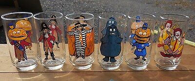 Complete Set of 6 Vintage McDonald's Collector Series Glasses