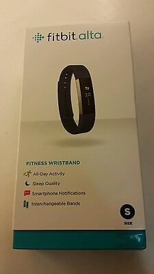 Fitbit Alta Fitness Tracker, Silver / Blue, Small *New & Sealed*