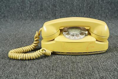 Vintage Western Electric Bell Systems Rotary Princess Phone Yellow W/ Cable