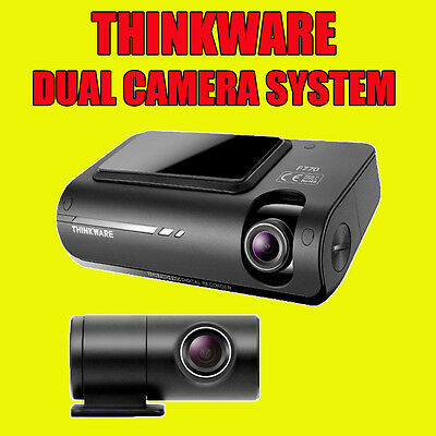 Thinkware F770 Front & Rear Dashcam Full Hd, Speed Camera, Cig & Hardwire Kit