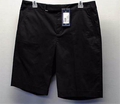 NWT Ladies SIZE 10 Ralph Lauren Polo Black Cotton Polyester golf shorts