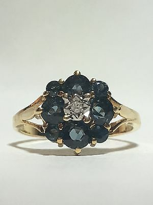 Sapphire and Diamond ring - Antique from England
