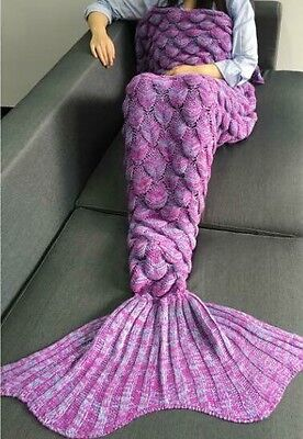 Purple Mermaid Tail Blanket - Brand New, Adult Size, Fast Shipping Available!