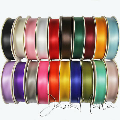 Full Reel Premium Double Faced Sided Satin Ribbon Roll 3mm, 10mm, 15mm, 25mm