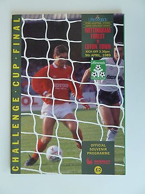 Littlewoods Cup Final Programme - 1989 - Notts Forest v Luton Town