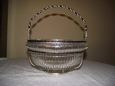 Large, Heavy Pressed Glass Trifle / Fruit / Punch Bowl.