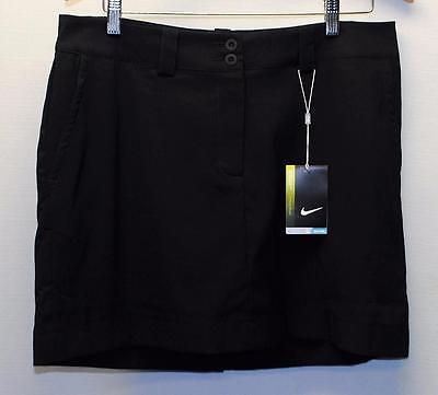 New Womens Size 10 Nike Dri Fit  Poly Spandex BLACK golf skorts 618150