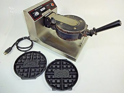 """""""MUNSEY RCM-8"""" HEAVY DUTY COMMERCIAL WAFFLE IRON MAKER w/ 2 NEW sets of Plates"""