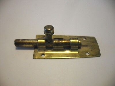 "Vintage Brass Plated Steel 2-1/2"" Barrel Bolt Latch Gate Door (No Keeper/Catch)"