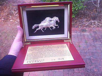 99.9 SILVER YEAR OF HORSE RELIEF SCULPTURE The Great Wall Gold & Silver Refinery