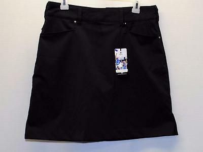 New Ladies Size 8 Abacus Dry Cool Black polyester spandex golf skorts